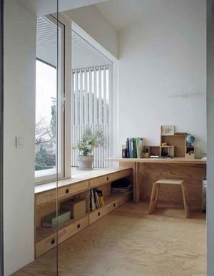 日式简约风格书房设计装修效果图