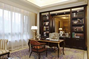 110平米古典美式风格书房装修效果图鉴赏