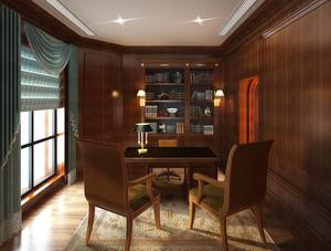16平米中式风格书房装修效果图赏析
