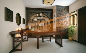 12平米古典中式风格书房装修效果图赏析