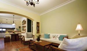 美式田园风格三室两厅室内装修效果图赏析
