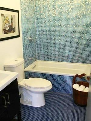 现代简约风格大户型卫生间瓷砖颜色装修大全