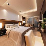 30平米新中式风格卧室吊顶装修效果图鉴赏