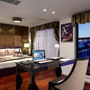现代风格三居室卧室背景墙装修效果图赏析