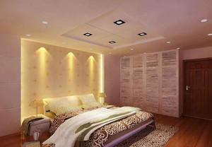 简欧风格三居室卧室吊顶设计装修效果图