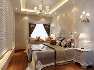 25平米欧式风格卧室飘窗装修效果图鉴赏