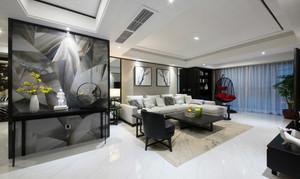 现代中式风格三室两厅室内装修效果图赏析