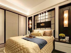130平米新中式风格室内两室两厅装修效果图赏析