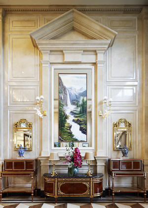 奢华欧式风格大户型客厅玄关设计效果图赏析