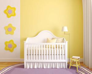 简欧风格两居室室内婴儿房设计装修效果图