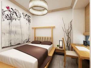 90平米简约中式中式风格三室两厅室内装修效果图