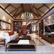 中式风格客厅吊顶装修效果图赏析