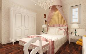 欧式田园风格两室两厅室内装修效果图