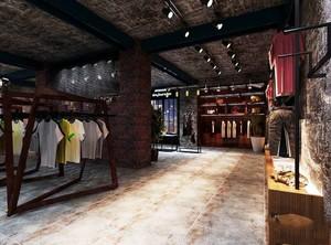 80平米后现代风格服装店设计装修效果图