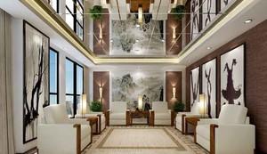 新中式风格精致会议室吊顶装修效果图