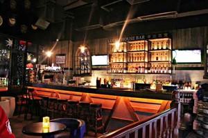 复古风格主题酒吧吧台设计装修效果图