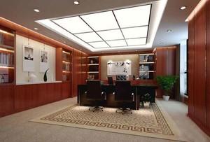 中式风格老总办公室装修效果图鉴赏