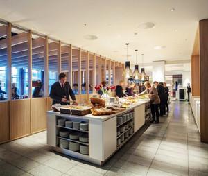 210平米现代风格自助餐厅装修效果图鉴赏