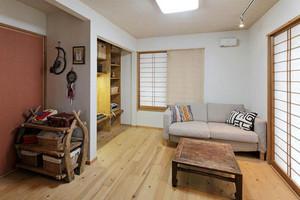 60平米简约日式风格一居室小户型装修效果图