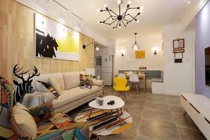 轻松舒适北欧风格两室两厅室内装修效果图案例