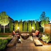 美式风格别墅花园设计装修效果图