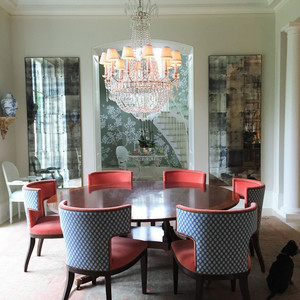 现代风格复式楼餐厅水晶吊灯装修效果图赏析