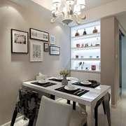 现代风格精致餐厅吊灯设计装修实景图