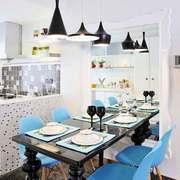 地中海风格两居室餐厅背景墙装修效果图