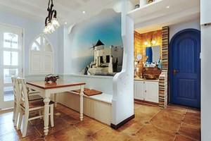 地中海风格两居室室内餐厅隔断设计装修效果图