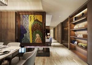 90平米时尚混搭风格室内装修效果图案例