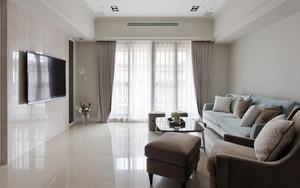 唯美简欧风格三室两厅室内装修效果图赏析