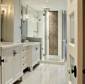 简欧风格三居室室内卫生间装修效果图
