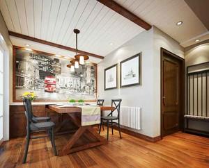美式风格室内餐厅背景墙装修效果图赏析