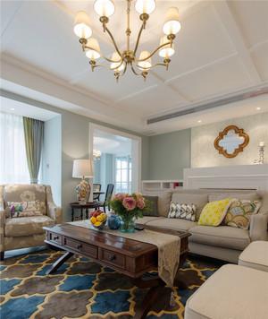 125平米欧式风格两室两厅一卫室内装修效果图