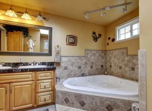 欧式风格别墅卫生间镜前灯装修效果图赏析
