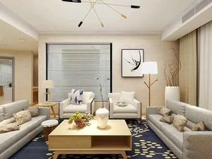 76平米日式简约风格两室一厅一卫装修效果图