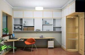 10平米日式风格书房设计装修效果图