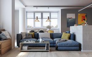 后现代风格单身公寓室内装修效果图赏析