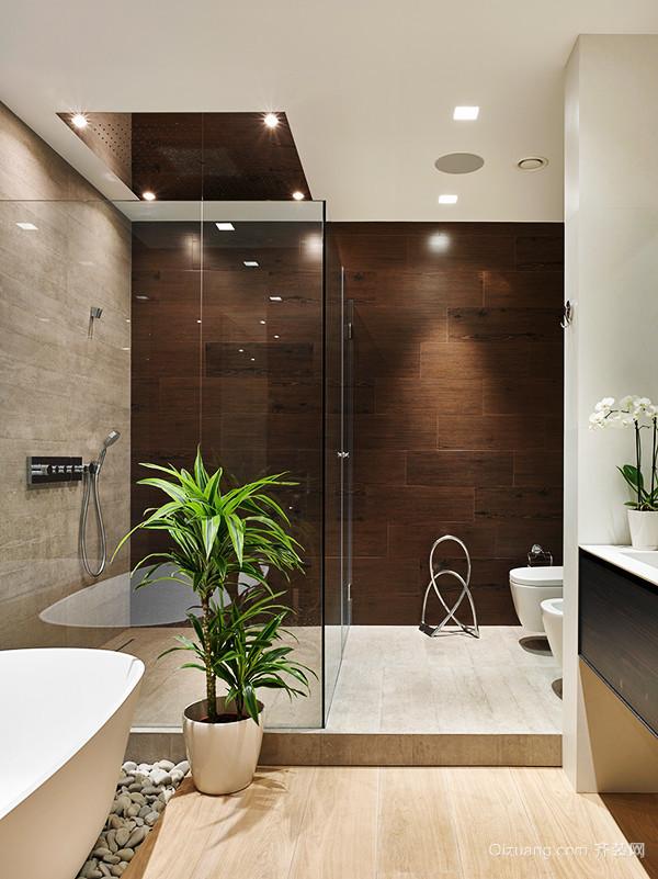 12平米现代简约风格卫生间隔断设计效果图-齐装网装修