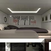 现代风格时尚跃层小卧室装修效果图鉴赏