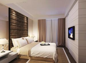 22平米现代简约风格卧室窗帘设计效果图赏析
