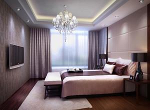 新中式风格三居室卧室吊灯装修效果图鉴赏