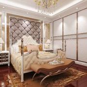 欧式风格大户型室内卧室入墙式衣柜装修效果图