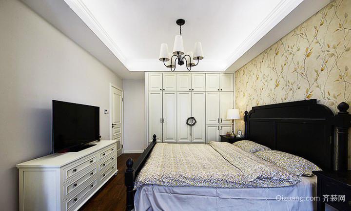 现代美式风格二居室卧室衣柜设计效果图