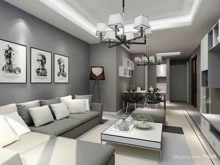 93平米现代简约风格三室两厅室内装修效果图