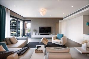 现代简约风格两室一厅一卫室内装修效果图