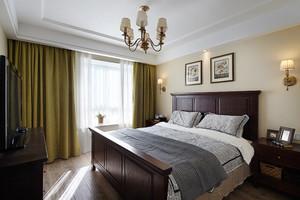 现代美式风格一室一厅一卫室内装修效果图