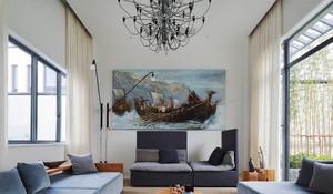 162平米新中式风格大户型室内装修效果图赏析