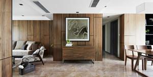 110平米中式风格客厅玄关设计效果图赏析