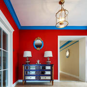 90平米地中海风格客厅玄关设计效果图赏析